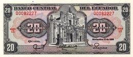 ECUADOR 3 Notes 5 & 10 & 20 Sucres 1988 1983 1986 Unc - Ecuador