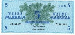FINLAND 5 MARKKA 1 GULD(1909) 1918 PICK 20 FVF - Finland