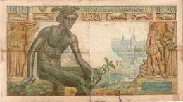 France 1000 Francs 19.11.1942 Banknote Francia - 1871-1952 Gedurende De XXste In Omloop