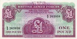 British Armed Forces 5 Pounds 1958 UNC Banknote - Forze Armate Britanniche & Docuementi Speciali