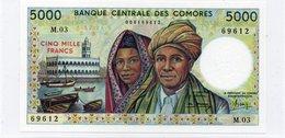 COMORES COMOROS 5000 FRANCS UNC - Comore