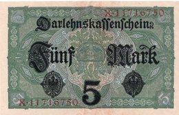 GERMANIA Germany 5 Mark Banknote 1917 - Duitsland