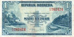INDONESIA 1 RUPIAH 1951 P 38 - Indonesien