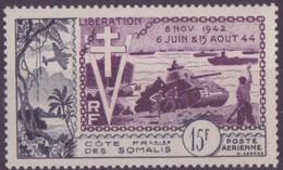 COTE DES SOMALIS N° 24**  PAR AVION NEUF SANS CHARNIERE ANNIVERSAIRE DE LA LIBERATION - Côte Française Des Somalis (1894-1967)