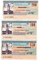 Italia ITALY 100 Lire 200 LIRE 150 LIRE  1976 1977 - BANCA  POPOLARE DI BERGAMO Assegni E Miniassegni - [10] Chèques
