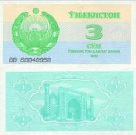 UZBEKISTAN RUSSIA SET SOM 1992 MOSQUE UNC BANKNOTES - Ouzbékistan