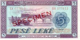 ALBANIA SET UNC 1 3 5 10 25 50 Leke SPECIMEN - Albanien