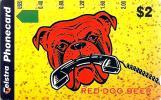 AUSTRALIA $2 RED DOG BEER  ANIMAL WITH PHONE CARTOON  MINT NOT FOR SALE  AUS-326 READ DESCRIPTION !! - Australia