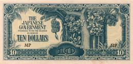MALAYSIA JAPANESE OCCUPATION MONEY MALAYA $10 - Japon