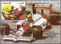 BRAZIL - SS AYRTON SENNA, 1988 F1 WORLD CHAMPION 1989 - MNH - Cars