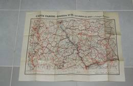 Ancienne Carte Géographique Taride-routière N° 26 Les Bords Du Rhin De Cologne à Mayence - Maps