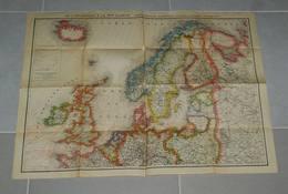 Carte De L'atlantique à La Mer Blanche (grande Bretagne-scandinavie-finlande-danemark-pays Baltes)  (an 40-50?) - Maps