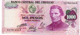 P52 1000 PESOS Banknote URUGUAY - 1974 - Jose ARTIGAS - UNC - Uruguay
