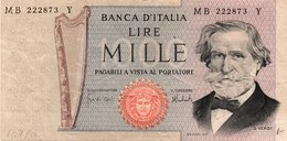 Italy 1000 Lire 1947 (VG) - 1.000 Lire