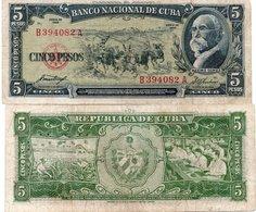CUBA - CUBA 5 PESOS 1960 Pk 92 Banknote - Cuba
