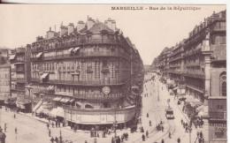 1148-Marsiglia-Bocche Del Rodano-Francia-Via Della Repubblica-Tram-Nuova-Nouveau-New - Canebière, Centre Ville
