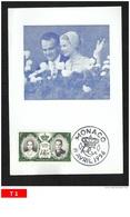 Monaco - Carte Maxi - 19 Avril 1956 - Maximumkarten (MC)