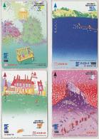 LOT 70 - Série Complète 4 Cartes Prépayées Japon / Les Quatre Saisons - Complete Set Japan Cards Seasons Jahreszeiten - Saisons