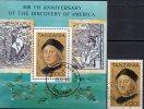 Kolumbus 1992 Tansania 1305 Plus Block 189 O 7€ Schiff Santa Maria 500 Jahre Entdeckung Amerikas Bf Ship Sheet Of Africa - Tanzania (1964-...)