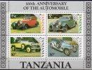 Historische Autos 1986 Tansania Block 53 ** 7€ Rolls-Royce Blocchi Bf Auto M/s Oldtimer Bloc Transport Sheet Of Tanzania - Tanzanie (1964-...)
