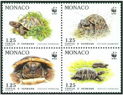 Monaco 1991 Turtles WWF  MiNr. 2046 - 2049 4v 1991 MNH** - W.W.F.