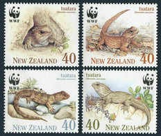 New Zealand 1991 Reptiles WWF  MiNr. 1160 - 1163 4v  MNH** - W.W.F.