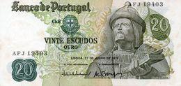 PORTUGAL 20 ESCUDOS 1971 PICK # 173 FINE+. - Portugal