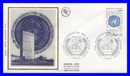 2374 (Yvert) FDC Illustrée Sur Soie - Quarantième Anniversaire De L´Organisation Des Nations Unies - France 1985 - FDC