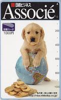 Carte Japon - ANIMAL - CHIEN LABRADOR Globe Terrestre Pièce De Monnaie - DOG Globus & Coin Japan Card - HUND - 486 - Timbres & Monnaies