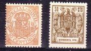 Timbre Movil,  10 +  50 Cts, 2 Différents Types - Utilisé, Espagne - Spain, Lot 14230