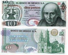 Mexico: $ 10 Pesos Miguel Hidalgo  1977 UNC. - Mexico