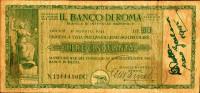 Italy 50 Lit,1944 Assegno Circolare,il Banko Di Roma,Trieste:01.08.1944,as Sca - [ 1] …-1946 : Royaume