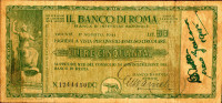 Italy 50 Lit,1944 Assegno Circolare,il Banko Di Roma,Trieste:01.08.1944,as Sca,Notice:Payment Via Skrill,I Have Not PayP - [ 1] …-1946 : Kingdom