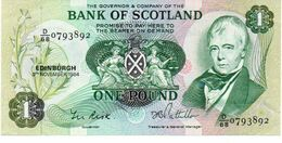 SCOTLAND 1 POUND BANKNOTE 1984 Aunc - Zonder Classificatie