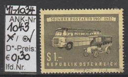"""14.6.1957  -  SM  """"50 Jahre Postauto""""  -  O Gestempelt  -  Siehe Scan  (1043o 03) - 1945-.... 2ème République"""