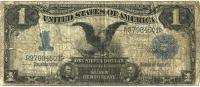 USA  UNITED STATES $1 SILVER  CERTIFICATE  BLUE SEAL SERIES 1899  VG P338b READ DESCRIPTION CAREFULLY !!! - Silver Certificates (1878-1923)