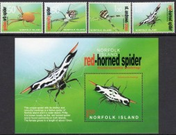 Norfolk 2004 INSECTS SPIDERS 4v +1   MNH** - Non Classificati