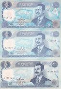 IRAQ 100 DINARS 1994 P-84 UNC 4 DIFF, COLORS NOTES LOOK