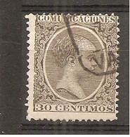 España/Spain-(usado) - Edifil  222 - Yvert 205 (o) - 1889-1931 Reino: Alfonso XIII