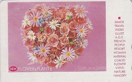 Télécarte Japon - FLEUR ROSE / Bouquet - FLOWER Bunch Japan Phonecard - Blume Telefonkarte  - 554 - Fleurs