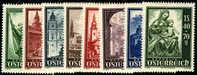 Austria B252-59 Mint Hinged Salzburg Cathedral Semi-Postal Set From 1948 - 1945-60 Ungebraucht