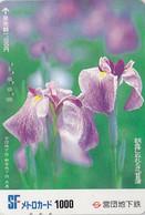 Carte Japon - FLEUR Fleurs - IRIS - FLOWER  Japan Metro Card - Blume Karte  - 585 - Fleurs