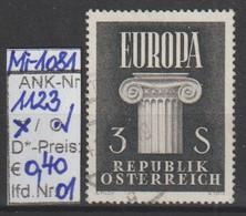 "29.8.1960  -  SM ""Europamarke 1960""  -  O  Gestempelt   -  Siehe Scan  (1123o 01) - 1945-.... 2nd Republic"