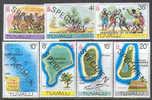 M0497 ✅ Independence Ships Maps Fishes Ball SPECIMEN 1978 Tuvalu 7v Set MNH ** - Tuvalu
