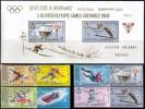 0023 ✅ Olympic Sport Winter Hockey Skiing Figure Skating 1967 Aden MNH 8v+S/s Set MNH ** 19,5ME - Winter 1968: Grenoble