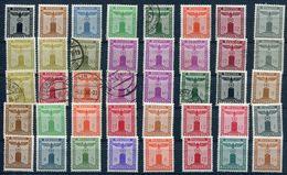 Dienstmarken Der Behörden  In  **/*/o/used    Schönes LOT Aus Mi. 132-177  Auf   2 Steckkarten  Siehe Bilder - Dienstpost