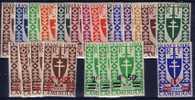 CAMEROUN-SERIE DE LONDRES N°249-262 & 266-273 - NEUF SANS TRACE CHARNIERE