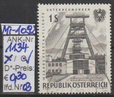 """15.9.1961 - SM A. Satz """"15 Jahre Verstaatlichte Unternehmen""""  -  O  Gestempelt -  Siehe Scan (1134o 03) - 1945-.... 2de Republiek"""