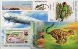 6 Topics-blocs Madagascar O 18€ Natur WWF Ara M/s Fishes Fauna Nature Jaguar Mammut Bloc Prachthäher Sheet Bf Malagasya - Madagaskar (1960-...)