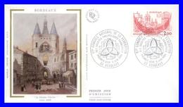 2316 (Yvert) Sur FDC Illustrée Sur Soie - Fédération Des Sociétés Philatéliques Françaises à Bordeaux - France 1984 - FDC